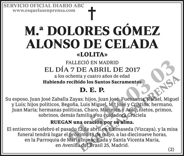 Dolores Gómez Alonso de Celada